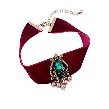 Dame Choker Halskjede Imitert Perle Geometrisk Form Legering Personalisert Luksus Bohemsk Smykker Til Fest Annen Stadie Ut på byen