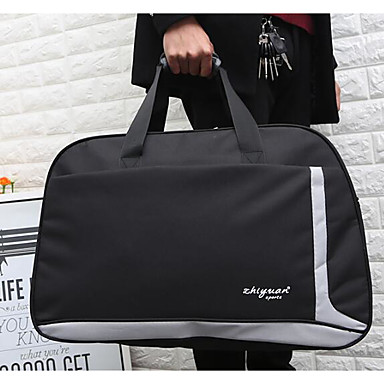 Women Travel Bag Polyester All Seasons Casual Outdoor Round Zipper Black Arm Green Red