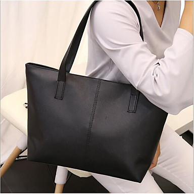 Women Bags PU Polyester Shoulder Bag for Casual Outdoor All Seasons Black Purple Yellow