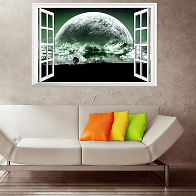 Landskap Veggklistremerker Fly vægklistermærker Dekorative Mur Klistermærker Materiale Hjem Dekor Veggoverføringsbilde