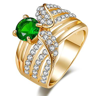 Χαμηλού Κόστους Μοδάτο Δαχτυλίδι-Γυναικεία Ζαφειρένιο Κρυστάλλινο Πασιέντζα Σύμπλεγμα Στρόγγυλα Δακτύλιος Δήλωσης Δαχτυλίδι Ρητίνη Στρας Μοντέρνο κυρίες Εξατομικευόμενο Πολυτέλεια Μοναδικό Κλασσικό Μοδάτο Δαχτυλίδι Κοσμήματα