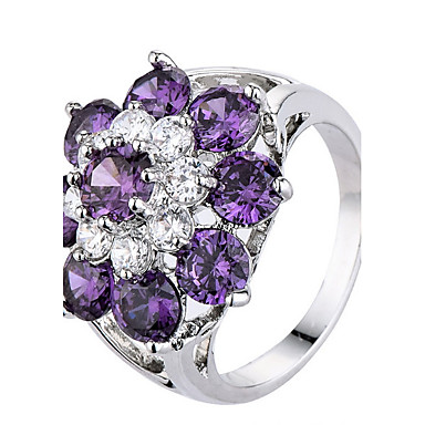 Women's Ring Settings Ring Band Ring Cubic Zirconia Rhinestone Personalized Floral Luxury Unique Design Classic Rhinestone Basic Sexy