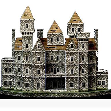 Quebra-Cabeças 3D Artesanato de Papel Castelo Construções Famosas Arquitetura Faça Você Mesmo Cartão de Papel Duro Crianças Para Meninos