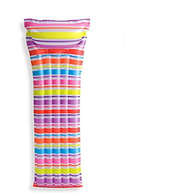 Boias de piscina infláveis Anéis de natação Espreguiçadeiras de piscina Brinquedos Brinquedos Retângular PVC Adulto Peças