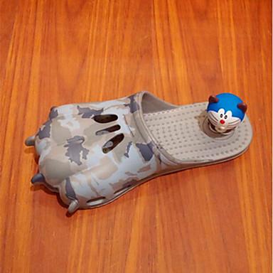 Dame Tøfler og flip-flops Komfort PVC Sommer Avslappet Komfort Grå Flat