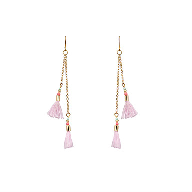 Women's Drop Earrings Jewelry Tassel Bohemian Personalized Cute Style Euramerican Simple Style Fashion Chrome Cotton Irregular Jewelry For