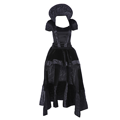 Queen Cosplay Kostumer Party-kostyme Dame Jul Halloween Karneval Festival / høytid Halloween-kostymer Svart Vintage