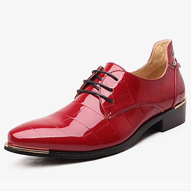 Homens sapatos TPU Primavera / Outono Sapatos formais Oxfords Preto / Vermelho / Azul / Casamento / Sapatos de vestir