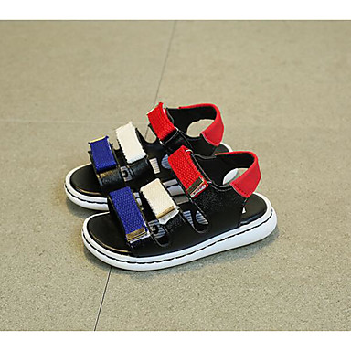 Girls' Shoes Leatherette Spring Fall First Walkers Flats Walking Shoes Magic Tape For Casual White Black