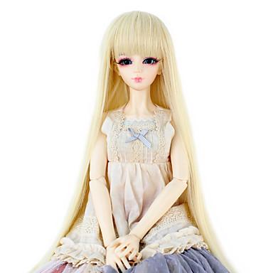 Cabelo Sintético perucas Liso Com Franjas boneca peruca