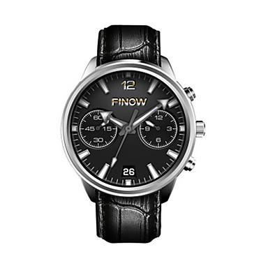 baratos Relógios Homem-Homens Relógio inteligente Digital Couro Preta Analógico Preto Prata / Black