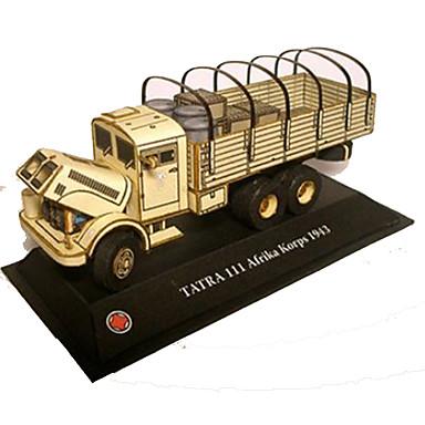 3D palapeli Paperimalli Avolava Sotavaunu DIY Kova kartonki Kuorma-auto Lasten Unisex Lahja