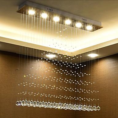 Montagem do Fluxo Luz Ambiente - Cristal, LED Chique & Moderno Moderno / Contemporâneo, 110-120V 220-240V, Branco Quente Branco, Lâmpada