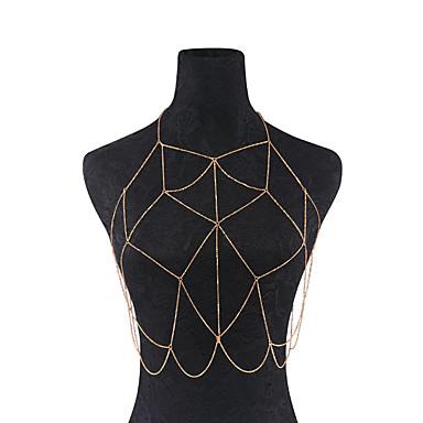 Mulheres Cadeia corpo / Cadeia de barriga Ferro Confeccionada à Mão Fashion Forma Geométrica Bijuteria de Corpo Para Dia a Dia Casual