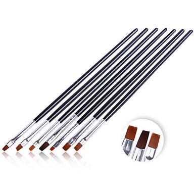 Nail Art Pen Brush 7PCS Black Brush Phototherapy Light Therapy Pen Brush Set French Phototherapy For