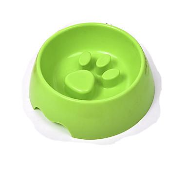 L Gato / Cachorro Tigelas e Bebedouros Animais de Estimação Tigelas e alimentação de animais Prova-de-Água / Portátil / Durável Marron / Verde