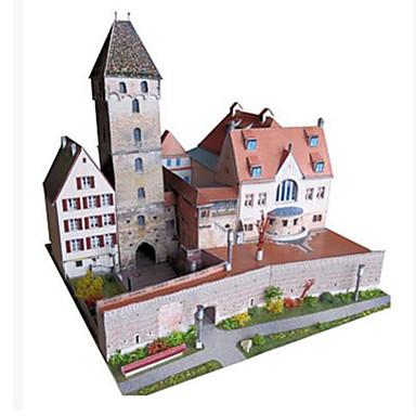 3D-puslespill Papirkunst Kjent bygning Arkitektur GDS Hardt Kortpapir Barne Gutt Unisex Gave