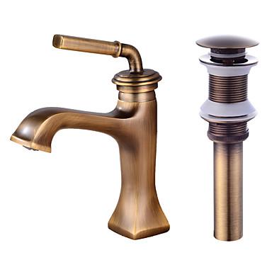 Faucet Set - Separada Bronze Envelhecido Conjunto Central Monocomando e Uma Abertura