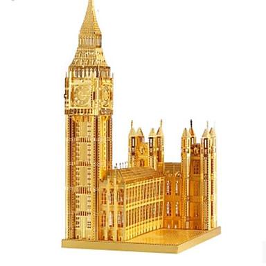 Quebra-Cabeças 3D Quebra-Cabeça Quebra-Cabeças de Metal Brinquedos de Montar Construções Famosas Arquitetura 3D Big Ben Faça Você Mesmo