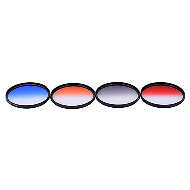 Andoer Professional 77mm GND Graduated Filter Set GND4(0.6) Gray Blue Orange Red Graduated Neutral Density Filter