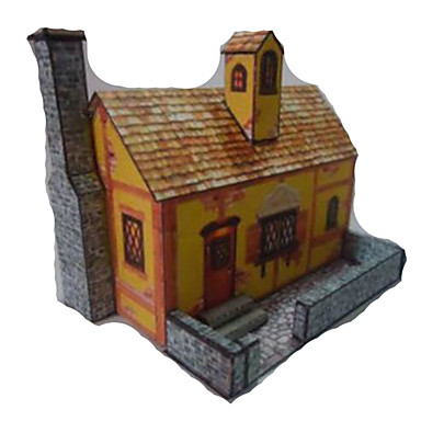 3D-puslespill Papirkunst Kjent bygning Hus Arkitektur simulering GDS Hardt Kortpapir Barne Gutt Unisex Gave
