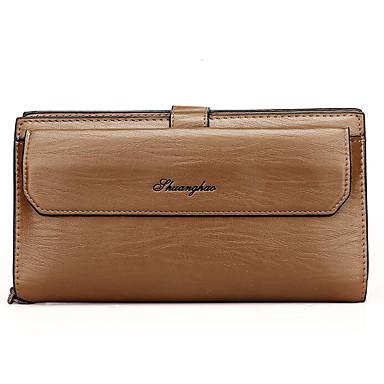 Men Bags All Seasons Cowhide Clutch for Casual Outdoor Brown Dark Brown