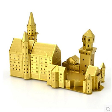 3D Puzzles Jigsaw Puzzle Metal Puzzles Model Building Kit Swan Famous buildings 3D DIY Brass Aluminium Metal Birthday Unisex Gift