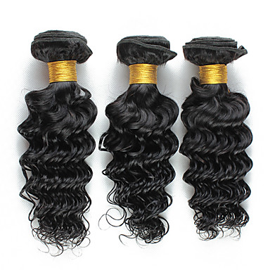 Cabelo Brasileiro Encaracolado Weave Curly Tramas de cabelo humano 3 Peças Venda imperdível Cabelo Humano Ondulado