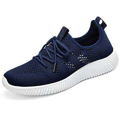 Unisexo Sapatos Couro Ecológico Tule Primavera Outono Solados com Luzes Conforto Tênis Sem Salto Ponta Redonda Cadarço para Casual Ao ar