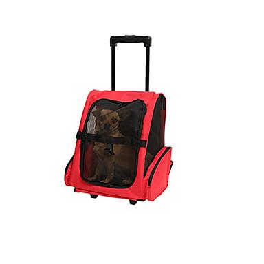 Cica / Kutya Hordozók és hátizsákok utazáshoz Házi kedvencek Hordozók Hordozható / Légáteresztő Egyszínű Piros / Kék