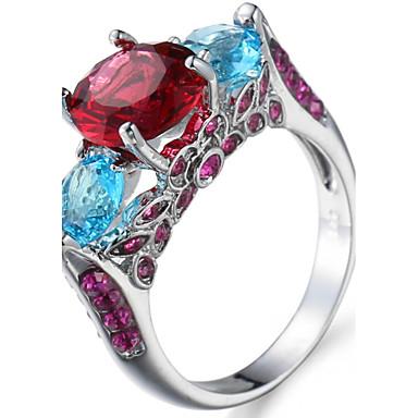 Women's Ring Settings Ring Band Rings Cubic Zirconia Rhinestone Personalized Luxury Geometric Unique Design Classic Rhinestone Basic