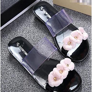 Women's Shoes PP (Polypropylene) Summer Comfort Flats For Casual Black Blushing Pink