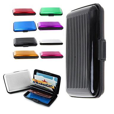 Deluxe Aluma Case Wallet Credit Card Holder Protect RFID Scanning Metal Ramdon Color