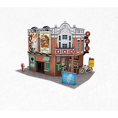 voordelige 3D-puzzels-3D-puzzels Legpuzzel Modelbouwsets Beroemd gebouw Huis Papier Kinderen Speeltjes Geschenk