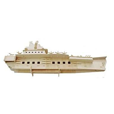 3D Puzzles Jigsaw Puzzle Model Building Kit Warship Aircraft Carrier Ship 3D Simulation Wooden Aircraft Carrier Kid's Boys' Unisex Gift