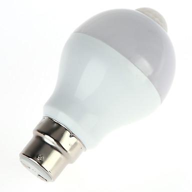 5W 450lm Lâmpada de LED Inteligente A60(A19) 10pcs Contas LED SMD 5630 Sensor infravermelho Controle de luz Sensor do corpo humano Branco