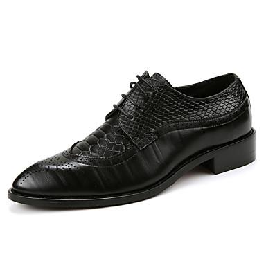 בגדי ריקוד גברים נעליים פורמליות סינטתי / דמוי עור / חומרים בהתאמה אישית סתיו / חורף נוחות נעלי אוקספורד שחור / צהוב / אדום כהה