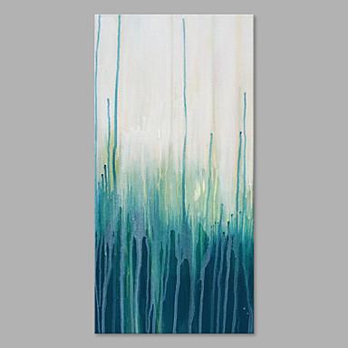 Hang festett olajfestmény Kézzel festett - Absztrakt Művészi Vászon