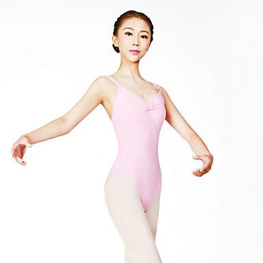 Ballet Leotards Women's Training Cotton Spandex Lace 1 Piece Sleeveless High Leotard