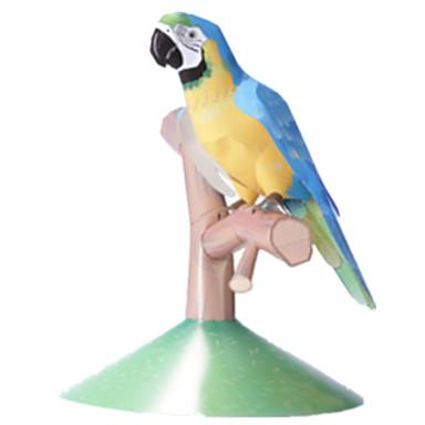 3D-puslespill Papirmodell Modellsett Papirkunst Leketøy Kvadrat Hest 3D Parrot Dyr GDS simulering Hardt Kortpapir Unisex Deler