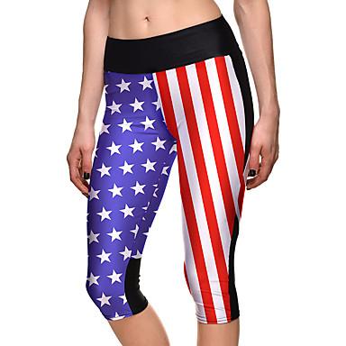 Dame Tights til jogging Treningstights Fitness, Løping & Yoga 3/4 Tights Bunner Yoga & Danse Sko Løper Trening & Fitness Elastan Terylene