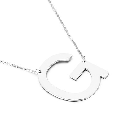 Men's Women's Pendant Necklaces Alphabet Shape Stainless Steel Friendship Initial Jewelry Simple Style Fashion Euramerican Jewelry For