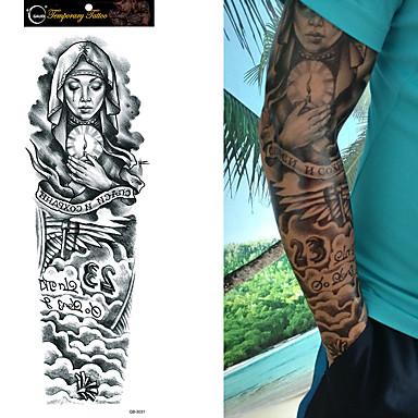 1/4/8 pcs Tetkó matricák ideiglenes tetoválás Rózsák / Koponya / Virág Vízálló / Non Toxic / Nagy méret Body Arts