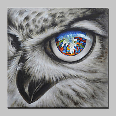 Mintura® Big Size Hand Painted Falcon City Animal Oil Painting On Canvas Wall Art For Home Decoration No Frame