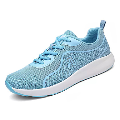 Women's Sneakers Comfort Spring Fall PU Casual Lace-up Flat Heel Orange Gray Blue Flat