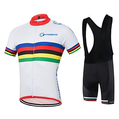 Cycling Jersey with Bib Shorts Men's Short Sleeves Bike Sweatshirt Jersey Shorts Shirt TopsQuick Dry Moisture Permeability 4D Pad