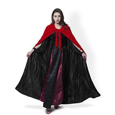 noita Päälystakki Cosplay-Asut Viitta Noidan luuta Naamiaisasu Juhla-asu Halloween Props Miesten Naisten Joulu Halloween Karnevaali Uusi