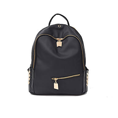 Women's Bags Nylon Backpack for Casual Winter All Seasons Black