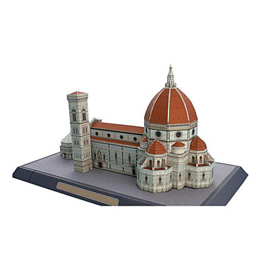 3D Puzzles Paper Model Paper Craft Model Building Kit Famous buildings Church Architecture Cathedral DIY Classic Unisex Gift
