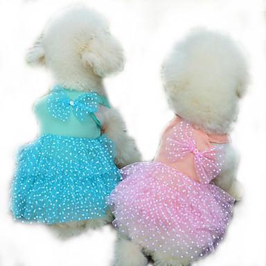 Hund Kjoler Hundeklær Fritid/hverdag Prinsesse Gul Fuksia Blå Rosa Kostume For kjæledyr